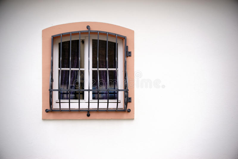 Window with grid royalty free stock photo