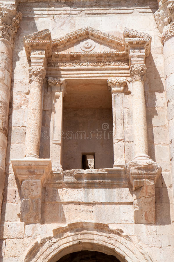 Download Window On Hadrian's Gate In  Jerash Royalty Free Stock Image - Image: 23645426