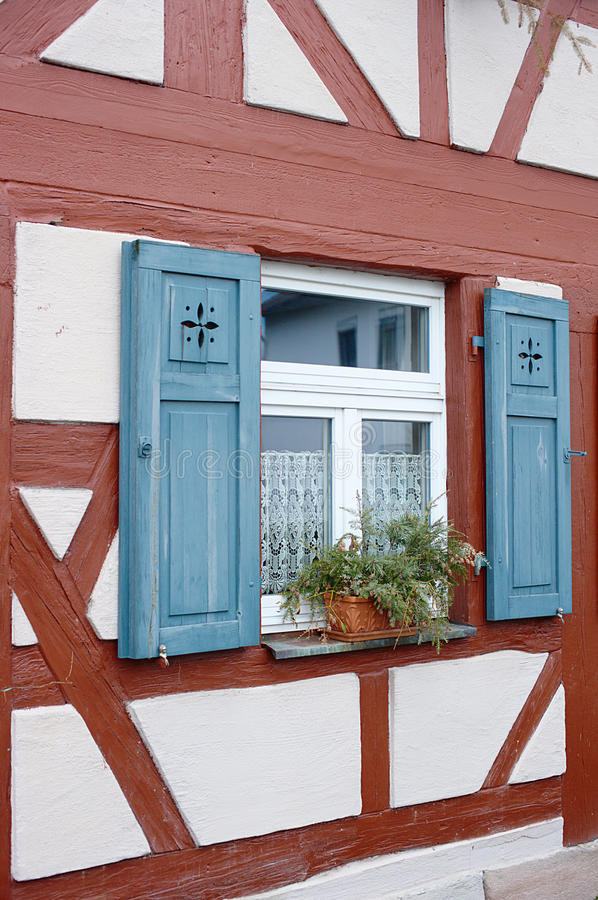 Download Window Of Half Timbered House Stock Image - Image: 13133487