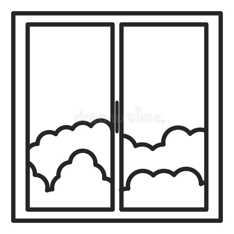 Window house with day outside view royalty free illustration