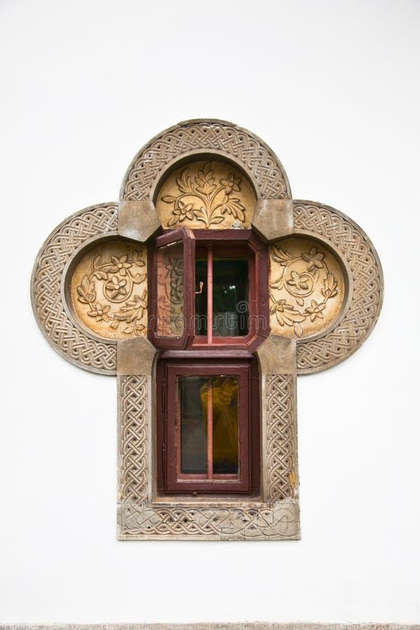 Free Window In Brancovenesc Style, Sinaia Monastery, Romania. Stock Photos - 29153073