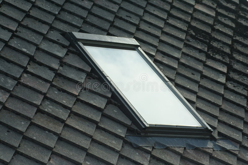 Download Window inside a roof stock image. Image of home, blue - 6084277