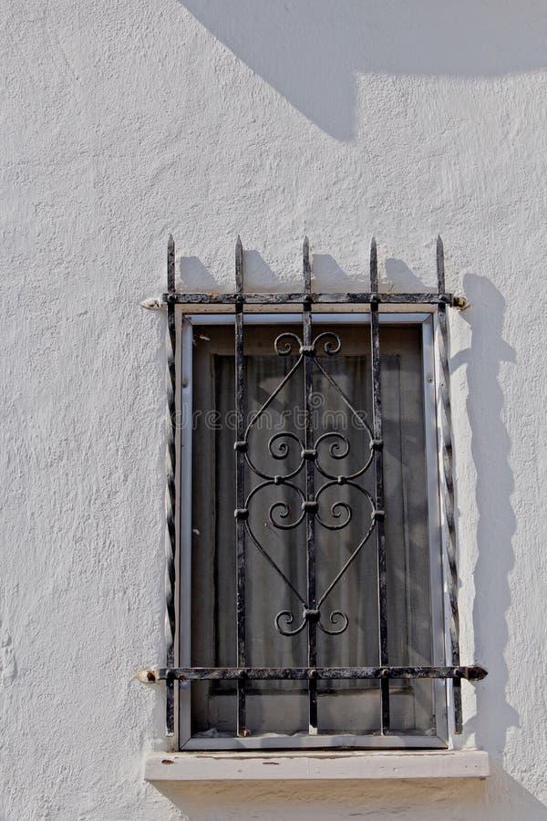 Window iron grates royalty free stock photo