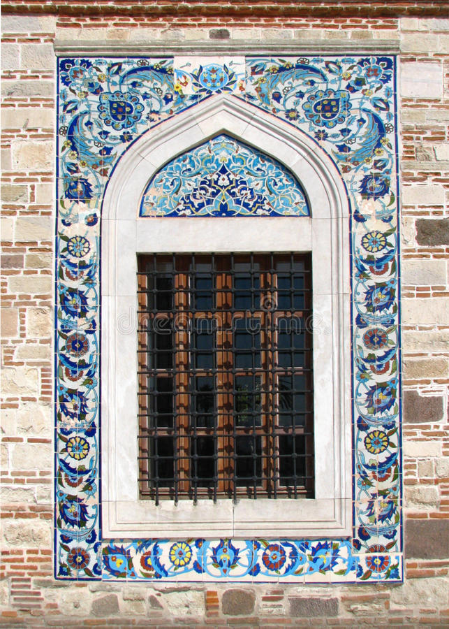 Download Window Of The Konak Camii Mosque Royalty Free Stock Image - Image: 24042866