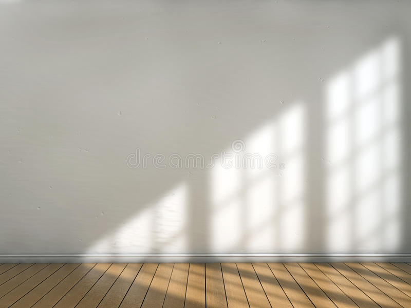 Window light. Room with sun light illuminating from a window vector illustration
