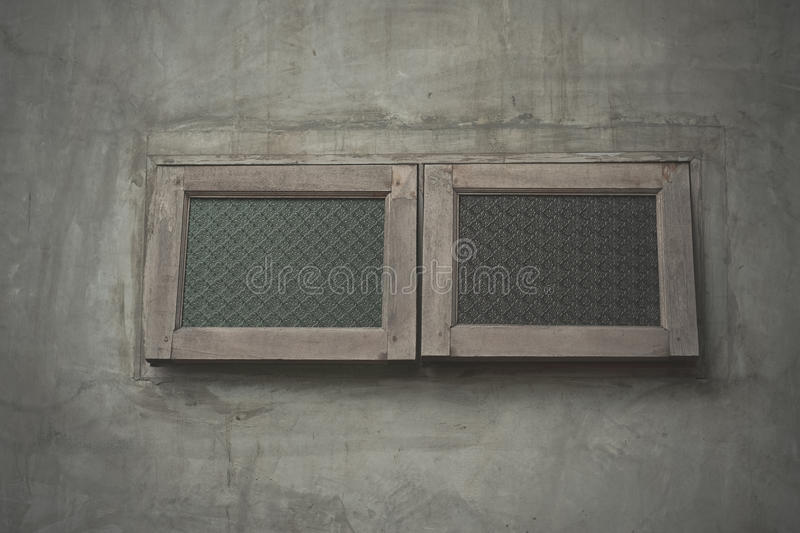 Window and loft style. Wood window and loft style royalty free stock photos