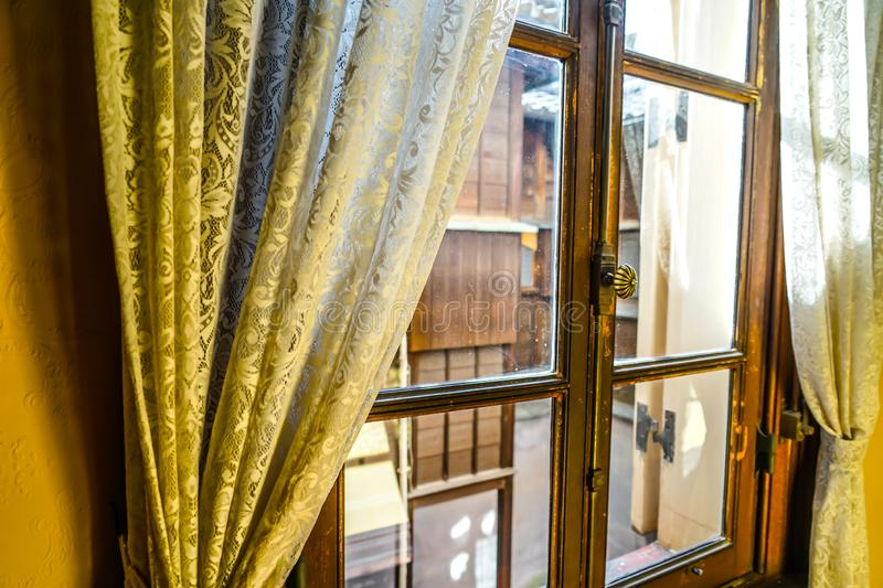 The window of the mansion royalty free stock photography