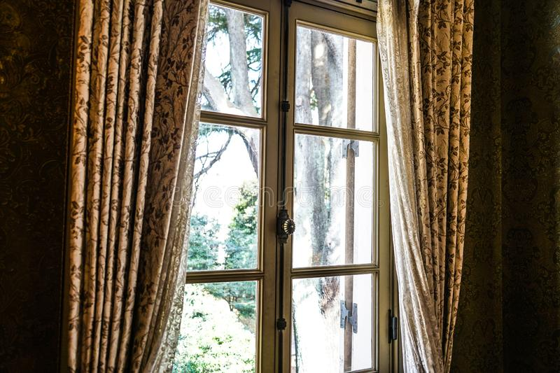 The window of the mansion royalty free stock photos