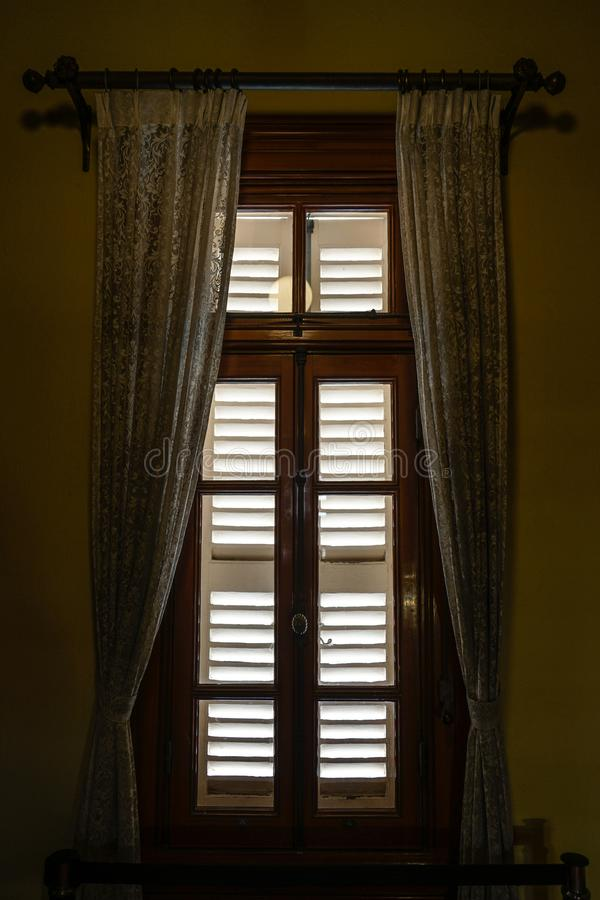 The window of the mansion stock photography