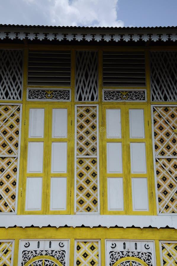 Window of Masjid Ihsaniah Iskandariah at Kuala Kangsar. KUALA KANGSAR PERAK, MALAYSIA – APRIL 2014: Ihsaniah Iskandariah Mosque a.k.a. Masjid Lama Kampung royalty free stock photography