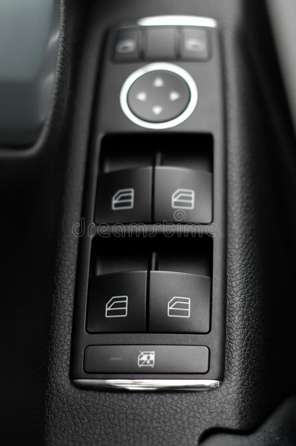 Window and mirror control panel royalty free stock image