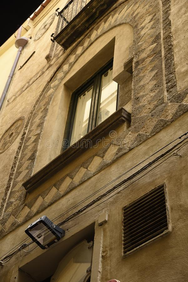 Window in the Narrow Streets of the old Town of Sorrento Italy. Sorrento is a small city in Campania, Italy, with some 16,500 inhabitants. It is a popular stock photos