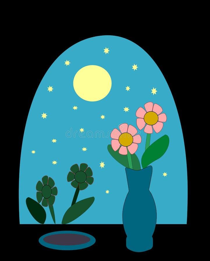 window at night stock illustration illustration of clip 38494432 rh dreamstime com night sky clipart stars in night sky clip art