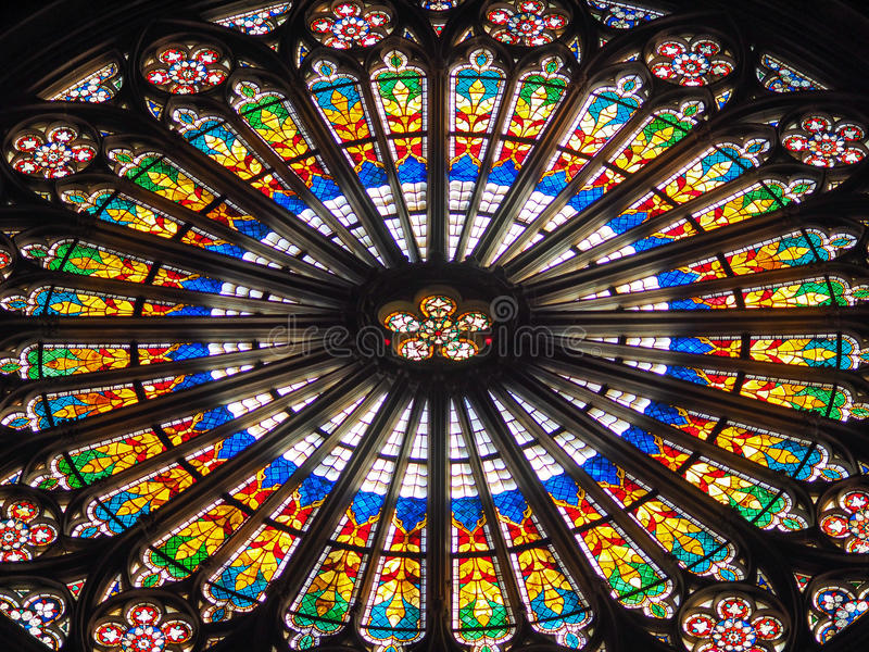 Window of Notre Dame royalty free stock photo