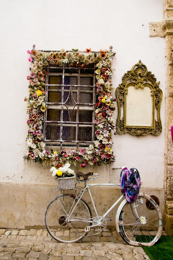 Window Obidos Portugal royalty free stock images