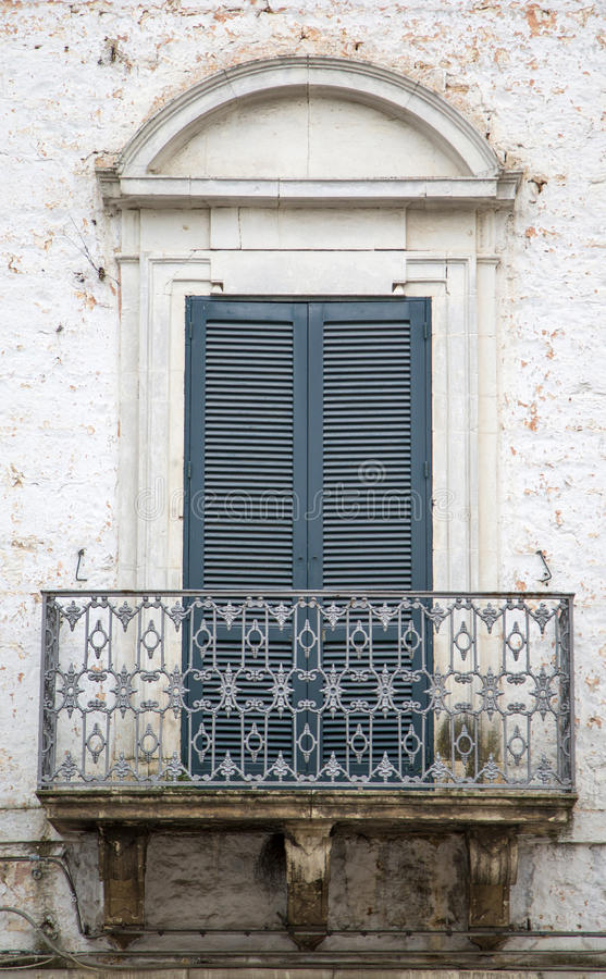 Window. Old window from Bari, Italy royalty free stock image
