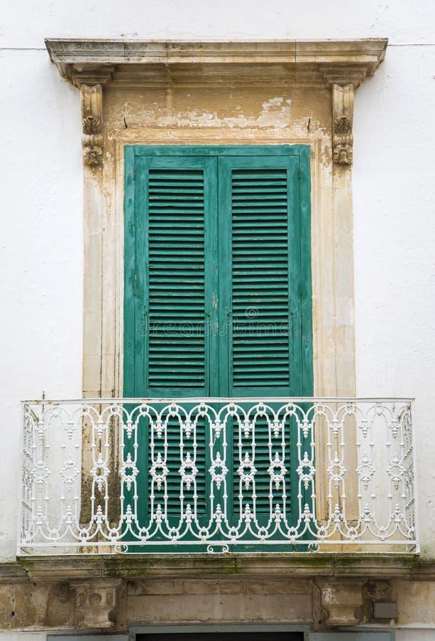 Window. Old window from Bari, Italy stock image