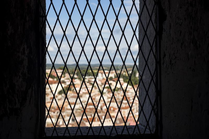 Window in old castle. royalty free stock image
