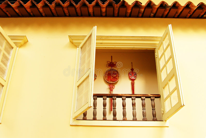 Download Window Of An Old Chinese Shop House Royalty Free Stock Images - Image: 4802449