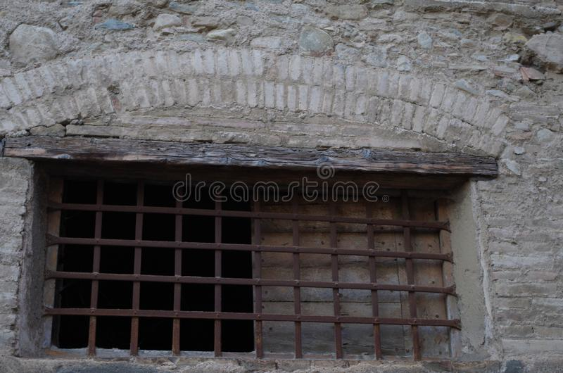 Old window in an historical building stock photography