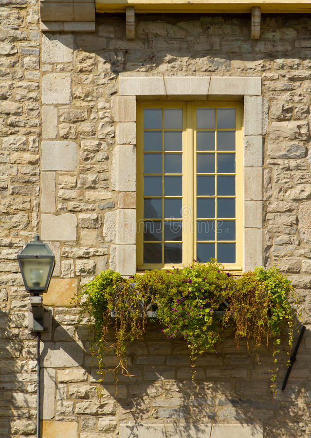 Window in OLd Quebec City stock photos