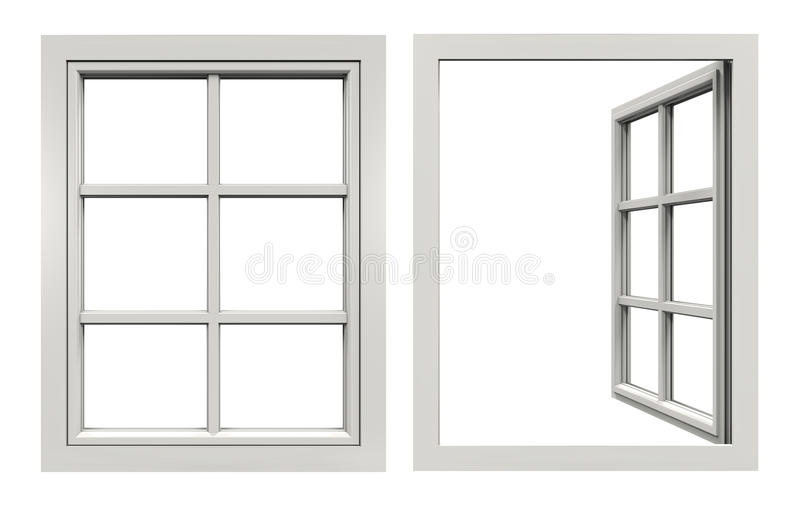 Closed Window Frame : Window open and closed stock illustration of