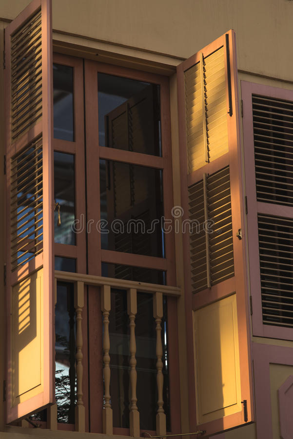 Window with open shutter royalty free stock photo