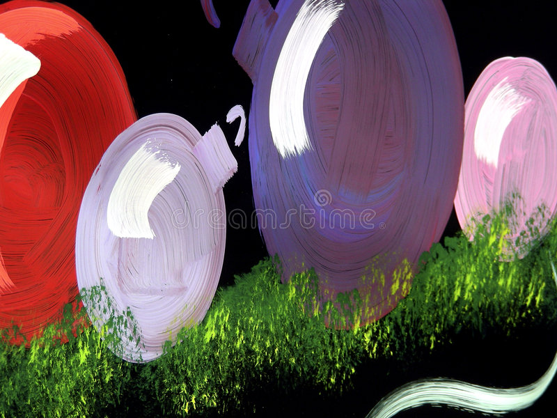 Window Ornaments - 2. Painted Christmas window decoration stock illustration