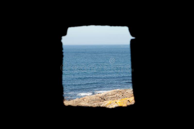 Window overlooking the Atlantic Ocean royalty free stock photos