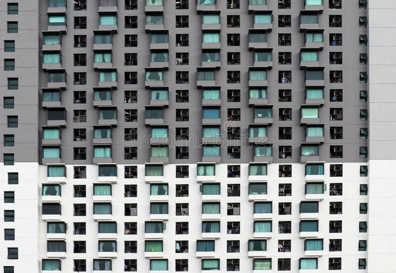 Pattern window building for design texture, Pattern modern building, condominium Isolated on white background, An isolated hightow royalty free stock images