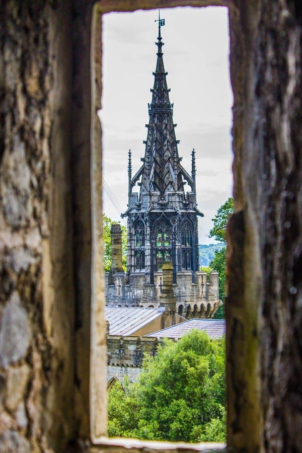 Window peek. From cardiff castle royalty free stock photo