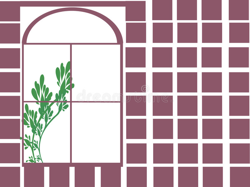 Download Window plant stock vector. Image of house, elegant, branches - 7159351