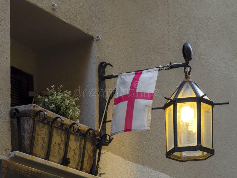 Street lamp Porto Venere stock photos