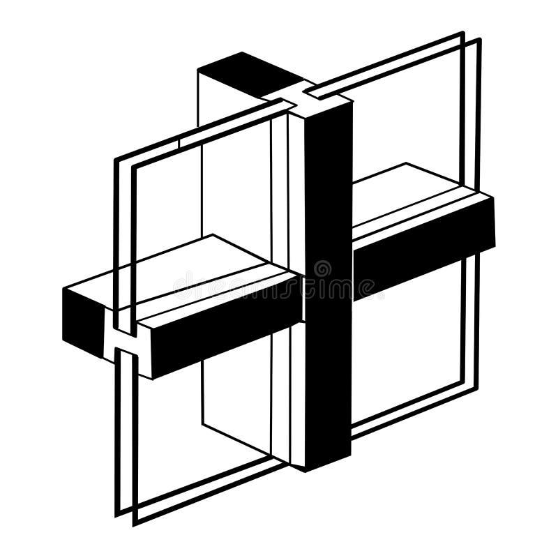 Window profile vector illustration
