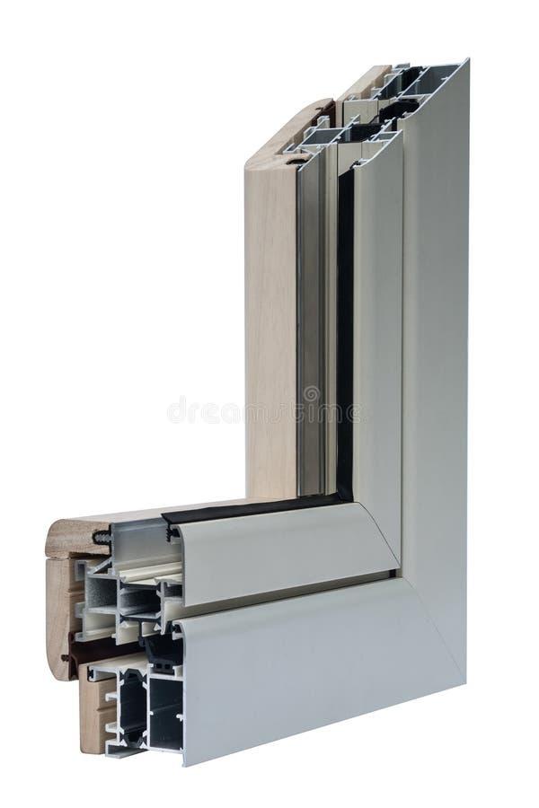 Window profile sistems stock photos