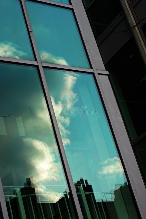 Window reflection stock image