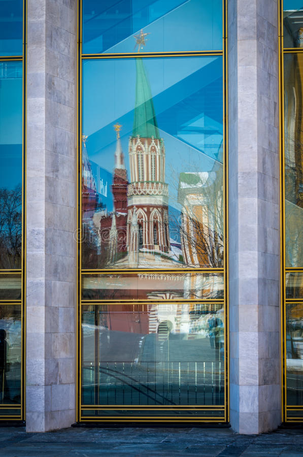 Window Reflections In The Kremlin Royalty Free Stock