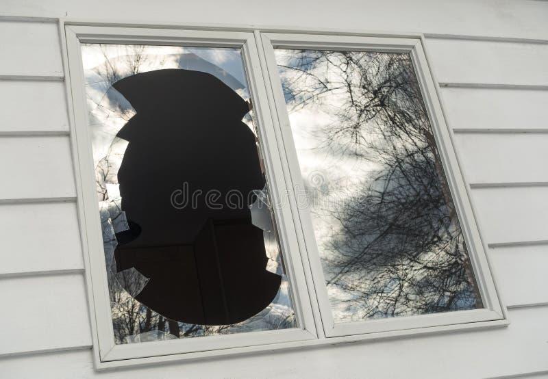 Window_1 rotto immagine stock libera da diritti
