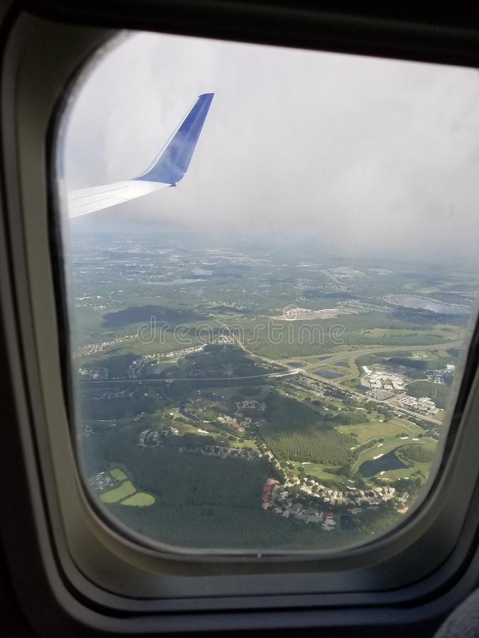 Window seat view of stock photography