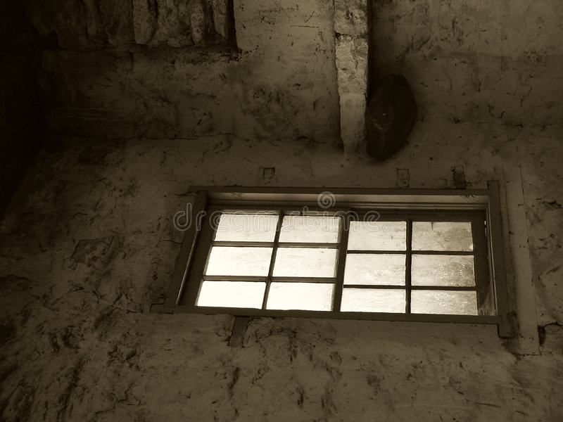 Window in Sepia royalty free stock photo