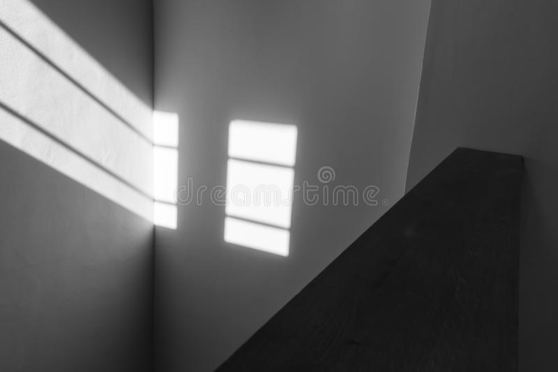 Light beam window shades geometrical lines texture. royalty free stock images