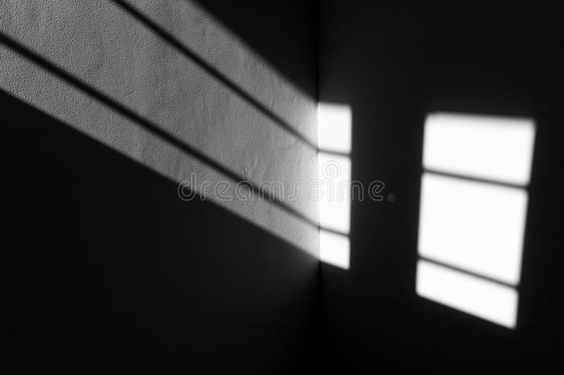 Light beam window shades geometrical lines texture. stock images