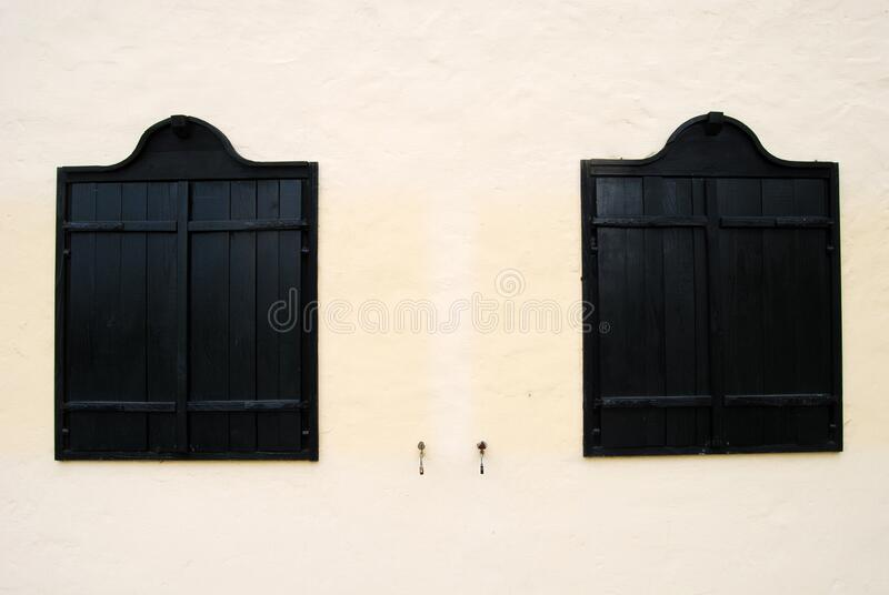 Window shutter 2 stock photo