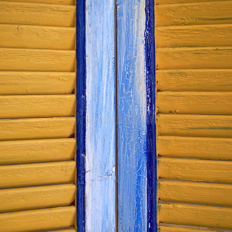Window shutters closeup. Colorful background royalty free stock photography