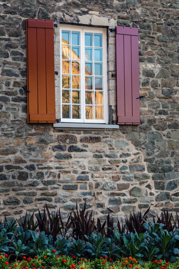 Window with shutters. stock photos