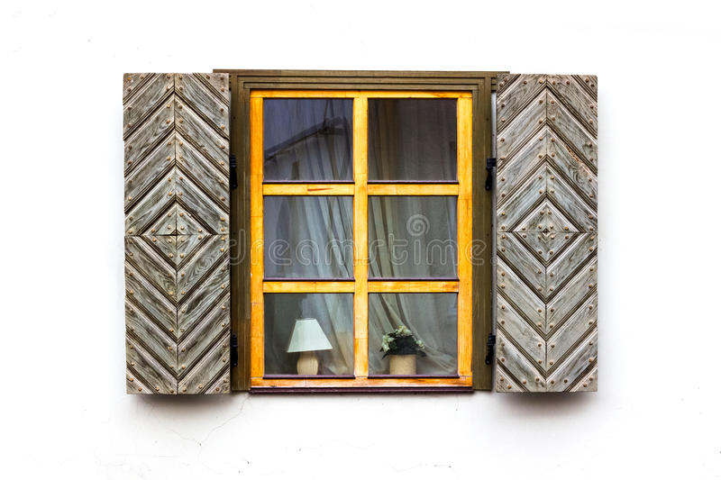 Window with shutters open royalty free stock image