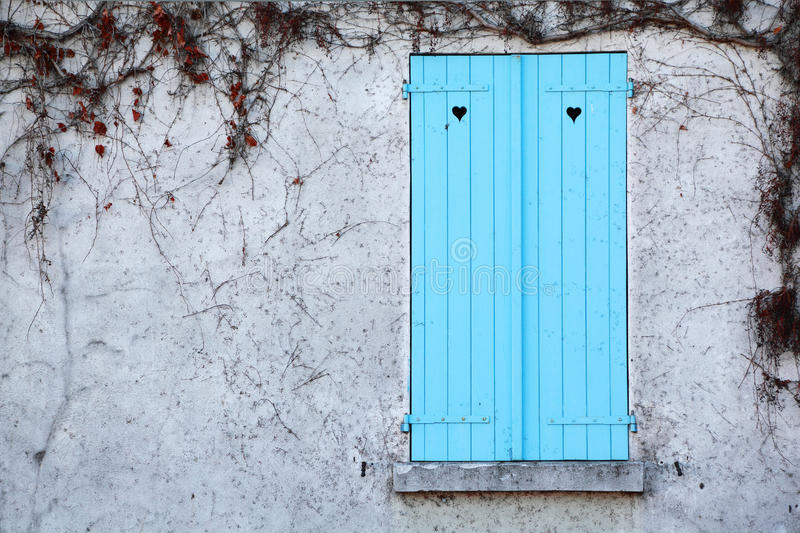 Window With Shutters And White Walls Royalty Free Stock Photo