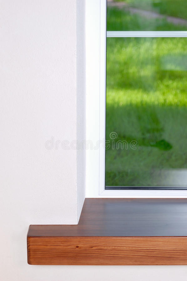 Window and Sill. stock photo