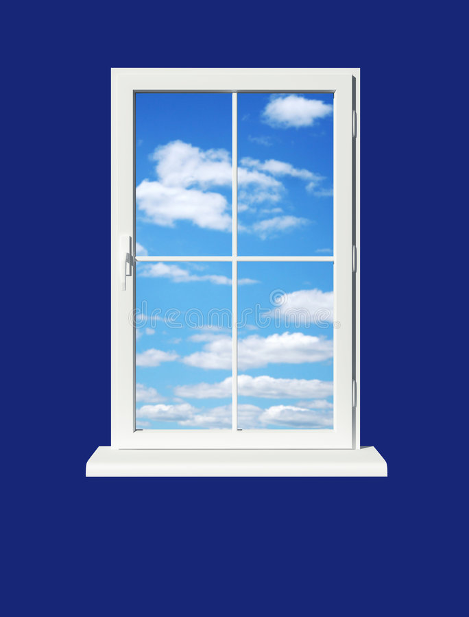 Window Skyward Stock Image