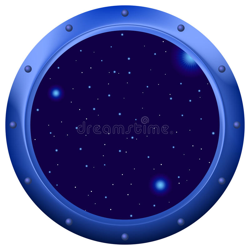Window with space stock illustration